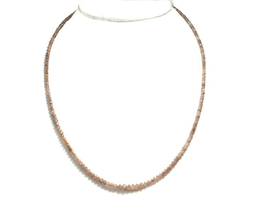 Rosé Diamond Bead Necklace