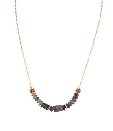 Tourmaline & High Karat Bead Necklace
