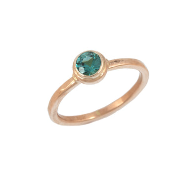 Stackable Ring with Tourmaline in Rose Gold