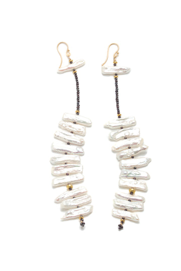 Cascading Freshwater Pearl Earrings