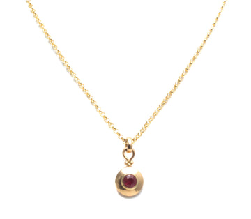 Bezel Set Ruby Pendant