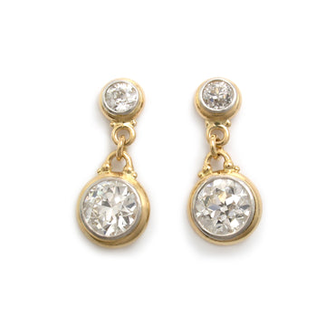 European Cut Diamond Earrings