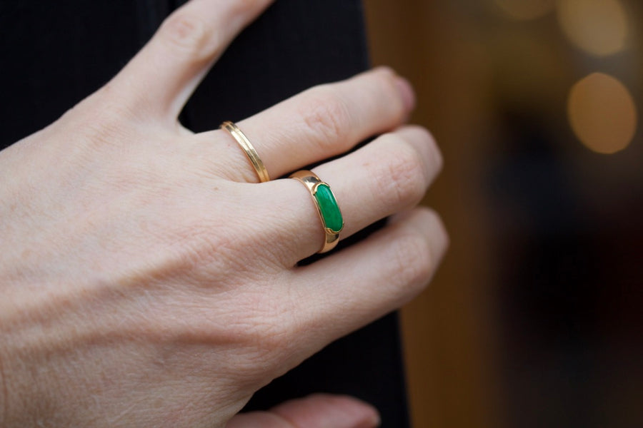 Saddle Shaped Jadeite Ring