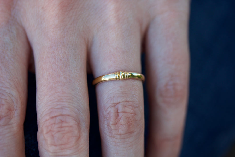 'Siena' Wedding Band in 18K Yellow Gold