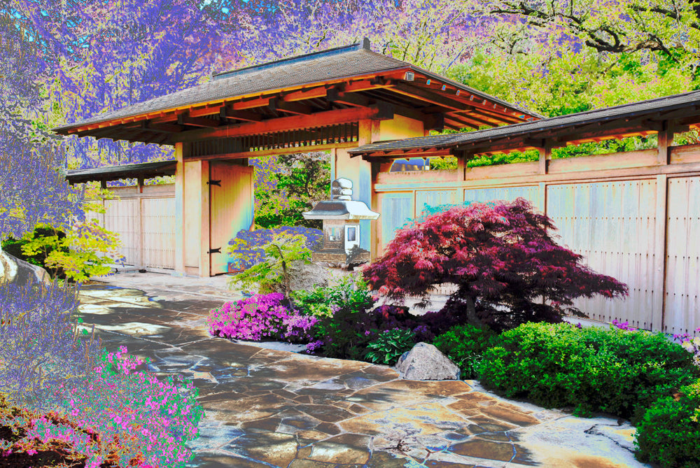 """Anderson Gardens: The Grand Gate"" Gallery Wrapped Canvas"
