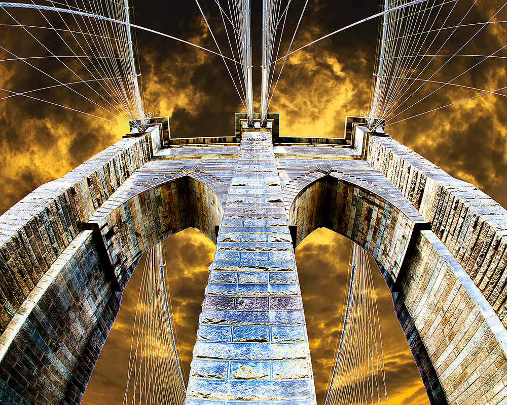 """Brooklyn Bridge: Wired"" Gallery Wrapped Canvas"