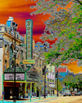"""Coronado Theatre: Rockford's Crown Jewel"" (orange version) Gallery Wrapped Canvas"
