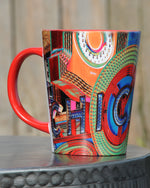 "Two-Tone ""Chicago Theater"" Latte Mug"