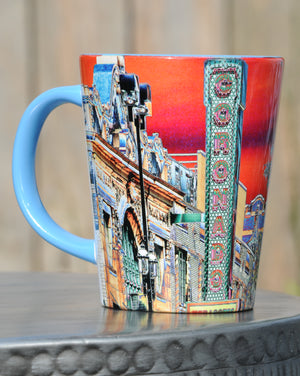 "Two-Tone ""Coronado Theater"" (orange) Latte Mug"