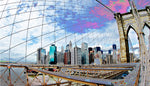"""Manhattan: Skewed"" Gallery Wrapped Canvas"