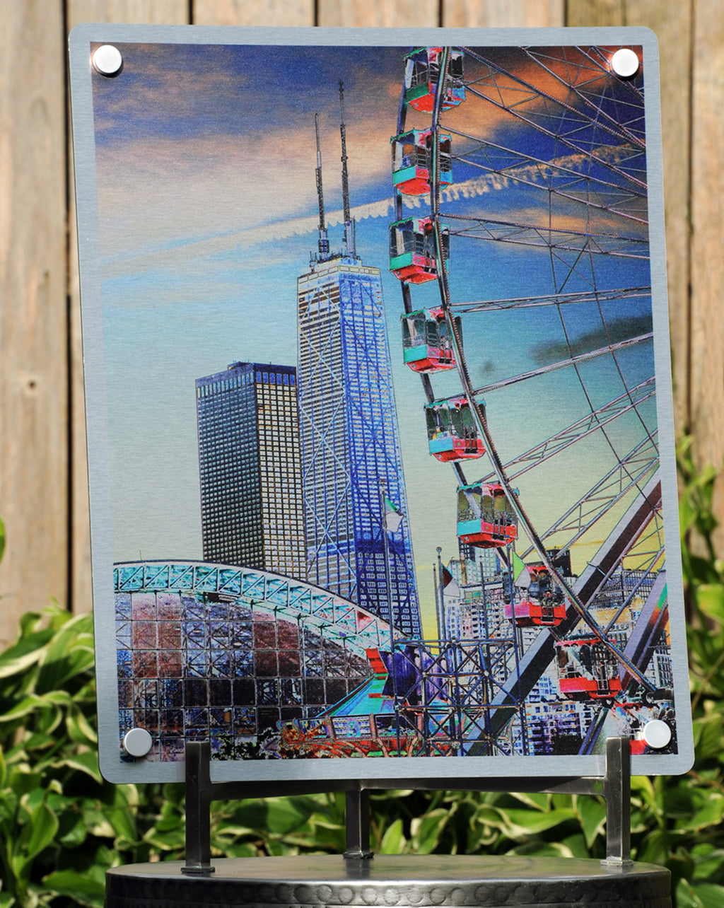"MAX-Metal Artwork | ""Chicago's Waterfront: A Day at Navy Pier"""