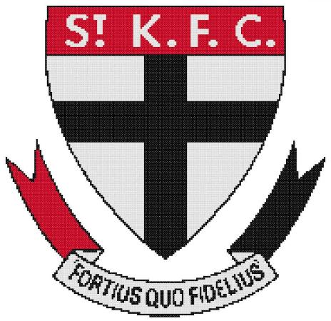 St Kilda AFL Cross Stitch Design - stitchaphoto
