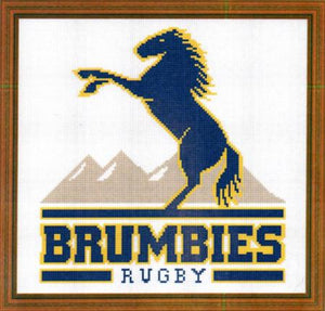 ACT Brumbies Rugby Logo Downloadable Cross Stitch Design - stitchaphoto
