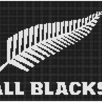 New Zealand Rugby All Blacks Downloadable Cross Stitch Design - stitchaphoto