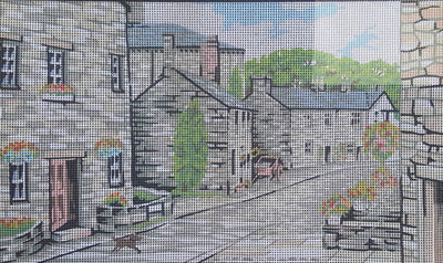 Grassington, Yorkshire Dales, an Anchor Tapestry Canvas