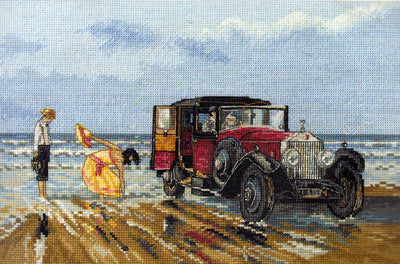 Vintage Rolls on the Beach - An Anchor cross stitch Kit
