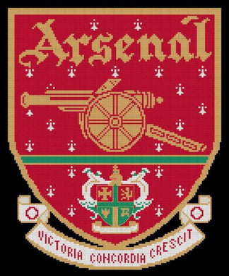 Arsenal FC Cross Stitch Design - stitchaphoto