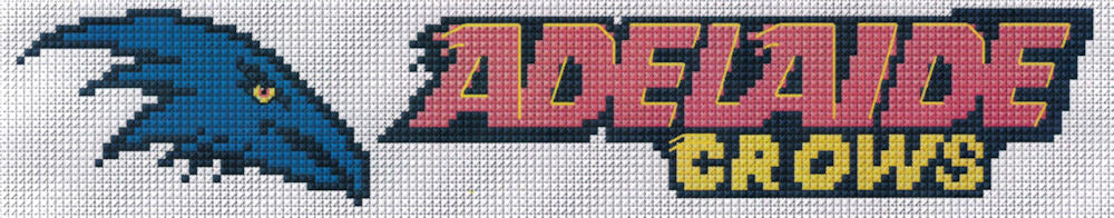 Adelaide Crows Cross Stitch Design for a Bookmark - stitchaphoto