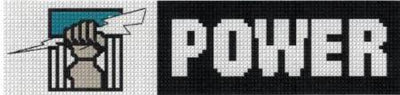 Port Adelaide AFL Logo Cross Stitch Design for a Bookmark - stitchaphoto