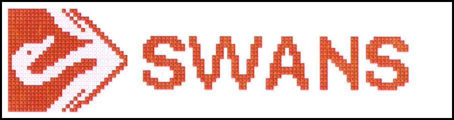 Sydney Swans AFL Logo Cross Stitch Design for a Bookmark - stitchaphoto