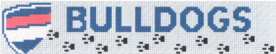 Western Bulldogs AFL Bookmark Cross Stitch Design - stitchaphoto