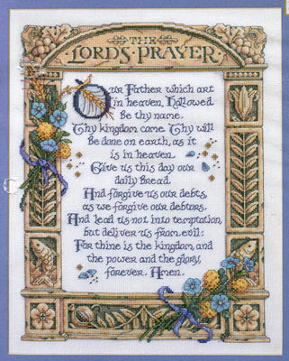 The Lord's Prayer - A Bucilla counted cross stitch kit