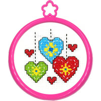 Hearts - A Bucilla counted cross stitch kit