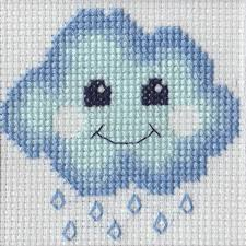 Cloud - A Beutron mini cross stitch kit