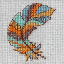 Feather - A Beutron mini cross stitch kit