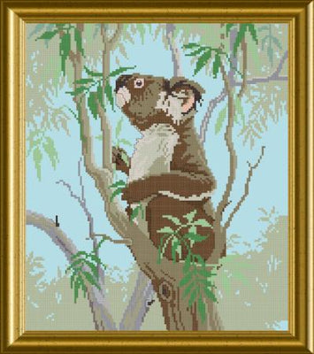 Koala Tea Time Cross Stitch Design - stitchaphoto