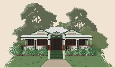 Homestead Cross Stitch Design - stitchaphoto