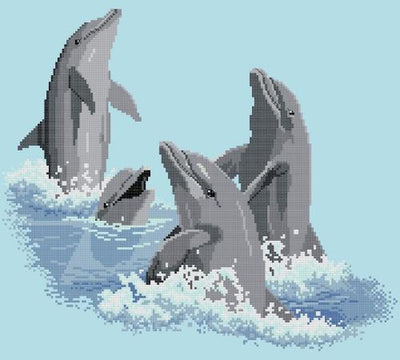 Dolphin Playmates Cross Stitch Design - stitchaphoto