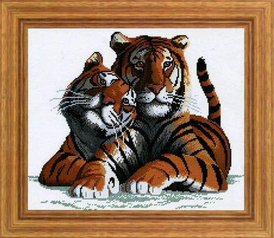 True Love Tigers Cross Stitch Design - stitchaphoto
