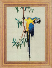Load image into Gallery viewer, Macaw Cross Stitch Design - stitchaphoto