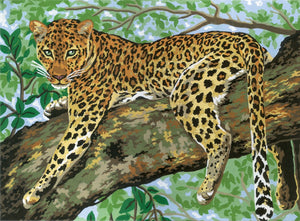 Jaguar in Tree - A Collection d'Art Tapestry Canvas