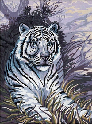 White Tiger - A Collection d'Art Tapestry Canvas