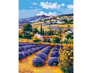 Lavender Farm - A Collection d'Art Tapestry Canvas