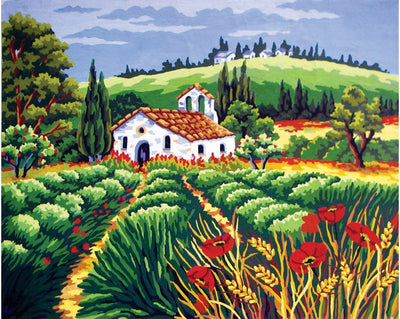 Fields in Provence - A Collection d'Art Tapestry Canvas
