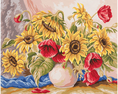 Flowers in a Vase - A Collection d'Art Tapestry Canvas
