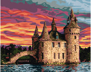Castle at Sunset - A Collection d'Art Tapestry Canvas