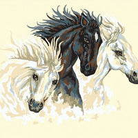 Three Horses - A Collection d'Art Tapestry Canvas