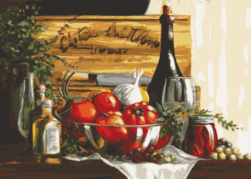 Still Life with Wine - A Collection d'Art Tapestry Canvas