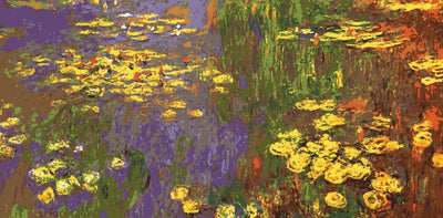 Monet's Water Lilies - A Collection d'Art Tapestry Canvas