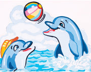 Dolphin PlayMates - A Collection d'Art Needlepoint Tapestry Kit