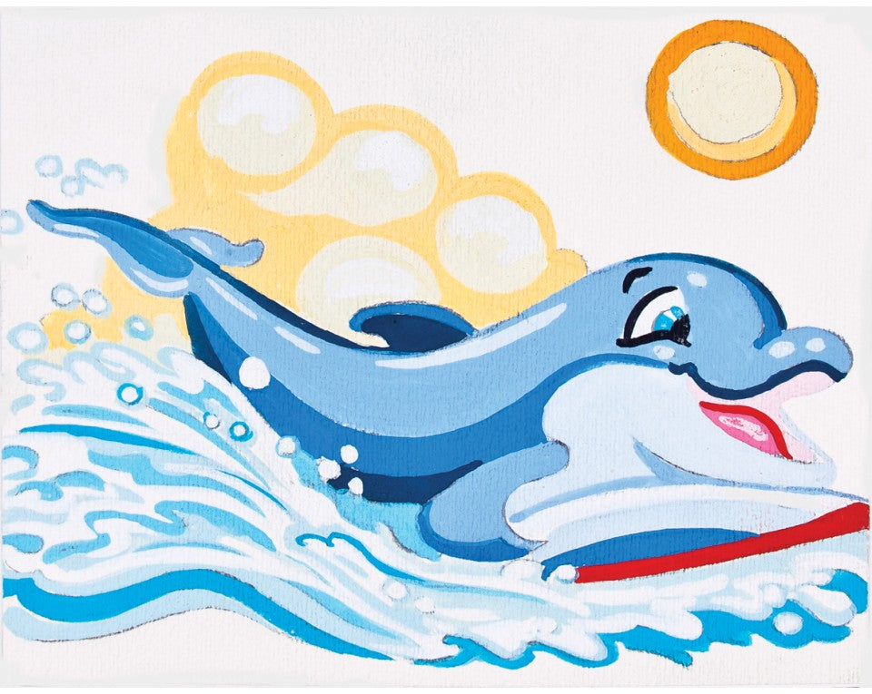 Dolphin Surfboard - A Collection d'Art Needlepoint Tapestry Kit