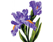 Iris - A Collection d'Art Tapestry Canvas