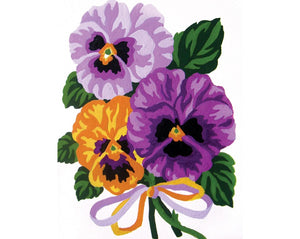Pansies - A Collection d'Art Tapestry Canvas
