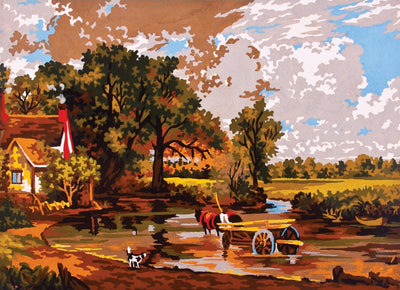 Hay Wain - A Collection d'Art Tapestry Canvas