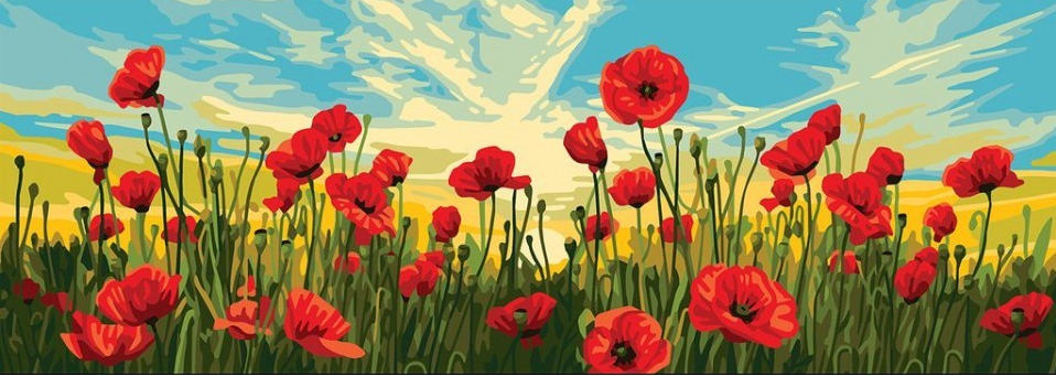 Poppy Field - A Collection d'Art Tapestry Canvas