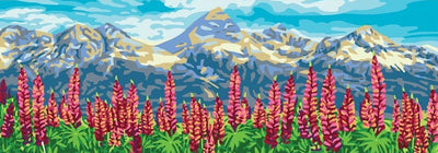 Lupins - A Collection d'Art Tapestry Canvas